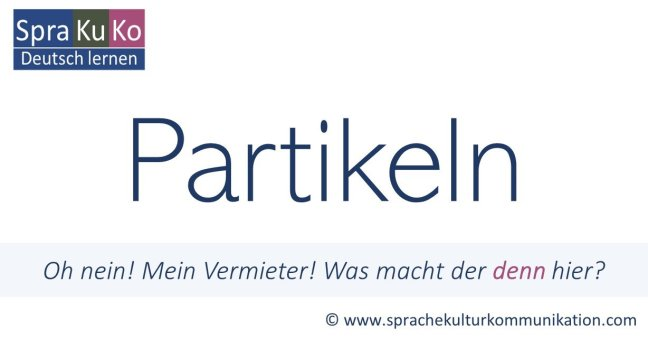 Partikeln Definition Beispiele