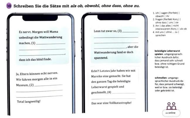 Grammatik mal vier - Textsorte: SMS