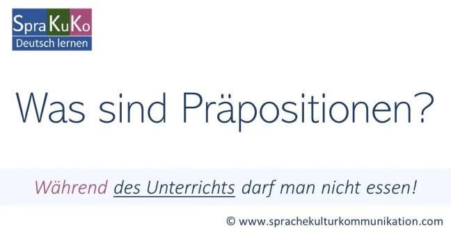 Was sind Präpositionen? - Online-Grammatik für Deutsch als Fremdsprache