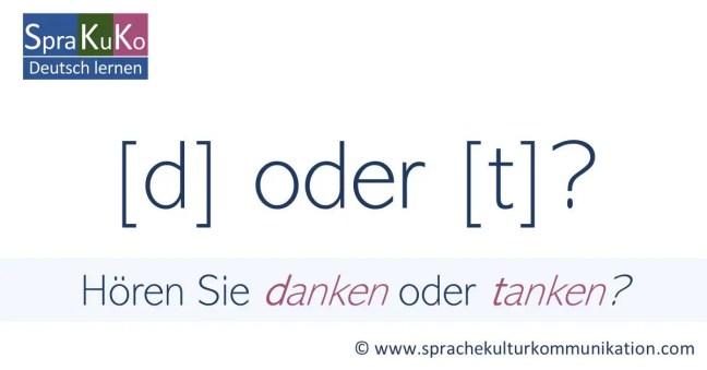 d oder t? Übung zur Aussprache im Deutschen