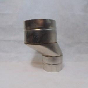 Stainless Steel 50mm Offset Flue Adaptor
