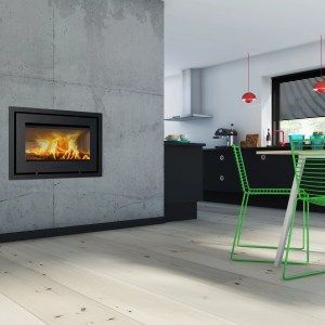Lotus 470 Wood Burning Cassette Stove Room