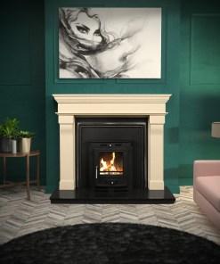 Bordeaux Marble Fireplace Surround