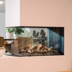 Faber e-MatriX 800/500 RD Triple Sided Electric Fire