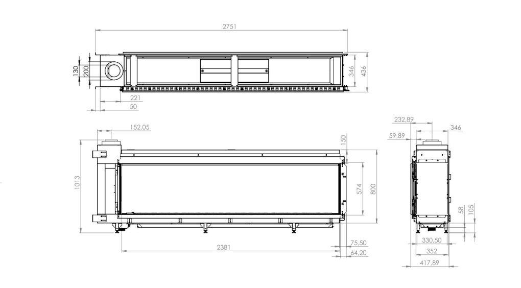 Modore 240H Dimensions