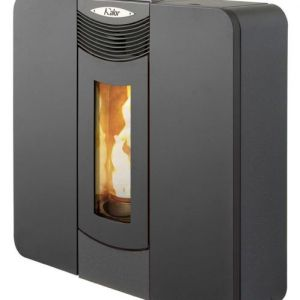Kalor Donata 16B Slimline Wood Pellet Boiler Stove Black