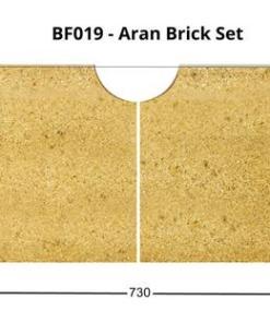 Henley Aran 6kW Freestanding Stove Full Brick Set