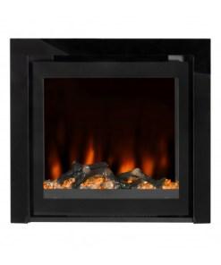 EZEE GLOW PULSE WIDESCREEN BLACK INSET ELECTRIC FIRE