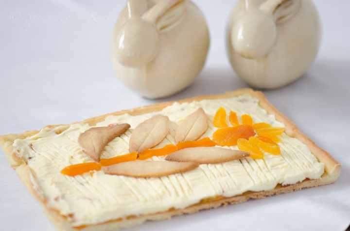 Mazurek pomaranczowy z mascarpone