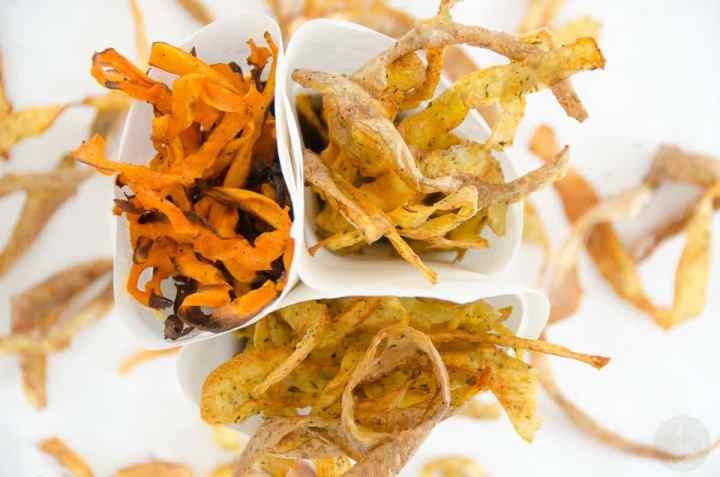 chipsy z obierkow warzywnych