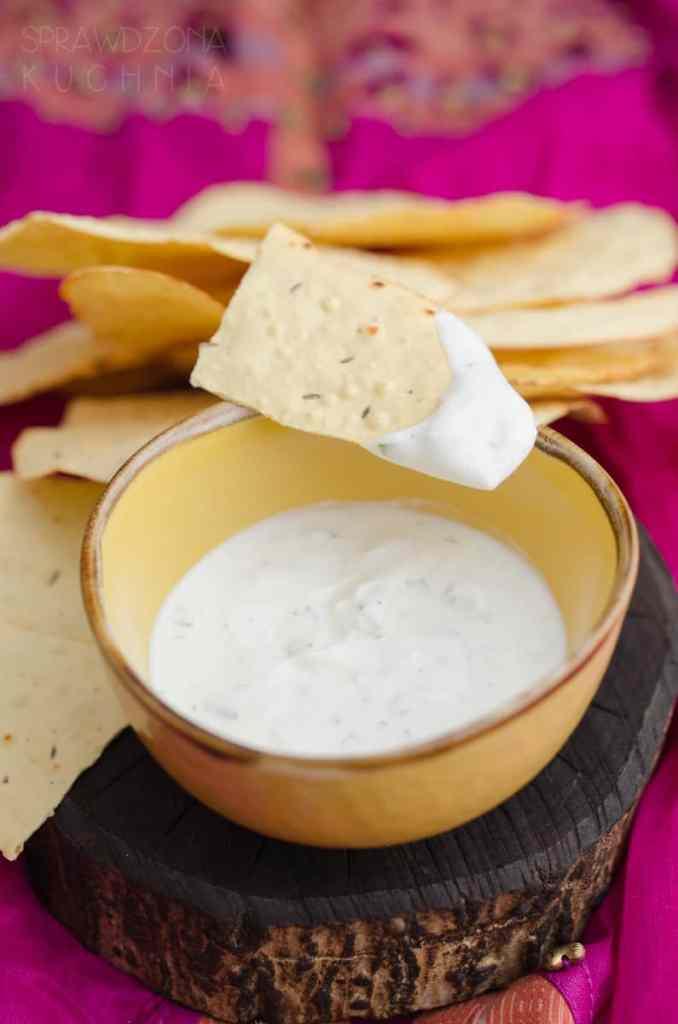 papad indyjskie chipsy