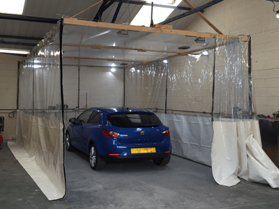 Hutchinsons PVC Solutions Limited Spray Booth Curtains Workshop Dividers Industrial Curtain