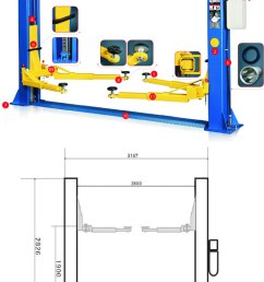2 post 4ton car lifts 220v manual release 021 5562413 [ 700 x 1379 Pixel ]