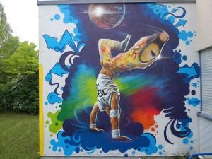 Graffitiauftrag Breaker JuZ Arena