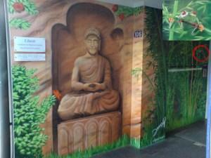 Graffitiauftrag Buddhastatue Better Feelings