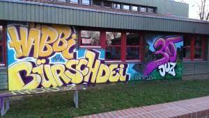 Graffitiauftrag 30 Jahre JuZ Königswiesen