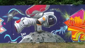 Graffiti B-Boy in Space, Spraybar