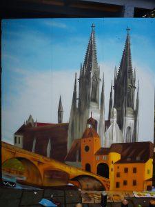 Graffitiauftrag Dom Regensburg