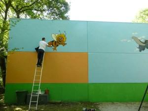 Graffitiauftrag Madhu malt Maja