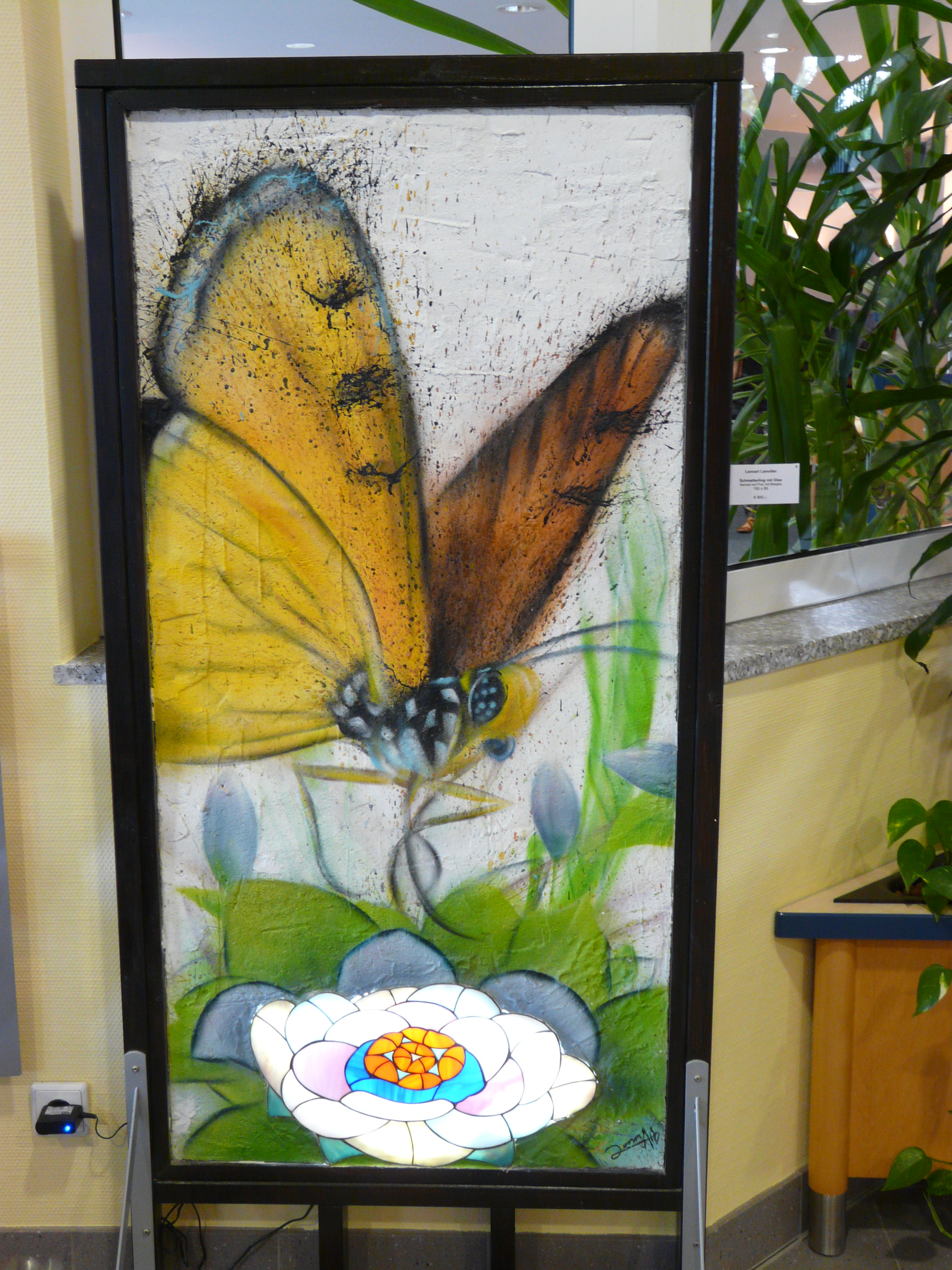 Graffiti Schmetterling mit Glas