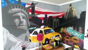 Graffitiauftrag Leinwand New York