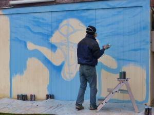 Graffiti Wasser vorzeichnen