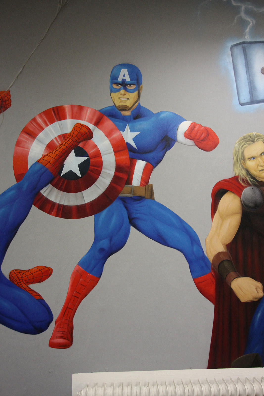 Graffitiauftrag Hyper Gym Captain America