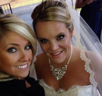 Bridesmaid, Megan, sprayed with Venetian & beautiful bride, Lindsay, sprayed with Moroccan Beach. 2013