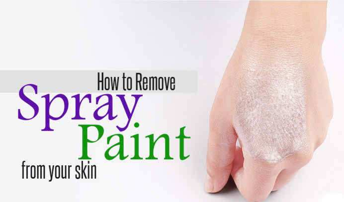 remove spray paint off skin