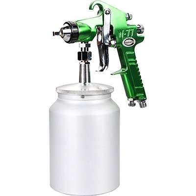 Valianto W77-S HVLP Siphon Feed Spray Gun Green Nozzle Size 3.0mm