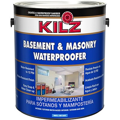 KILZ Interior-Exterior Basement and Masonry Waterproofing Paint