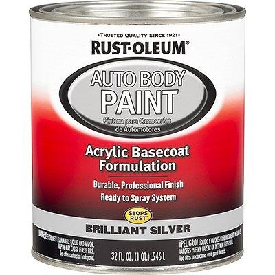 Rust-Oleum 275234 Brilliant Silver Automotive Auto Body Paint