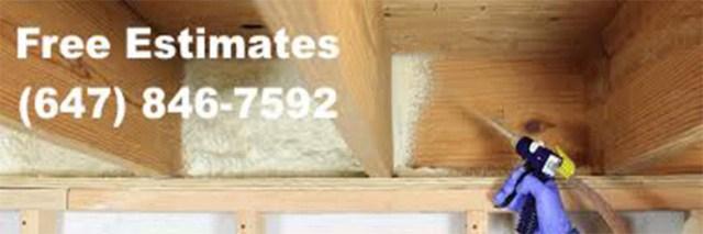 Low cost spray foam insulation on the Danforth