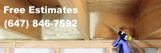 low cost spray foam insulation Yonge and Eglinton