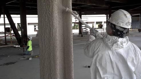 Spray Foam Kings offers commercial fireproofing