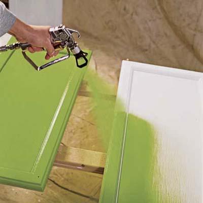 Spray Painted Kitchen Door