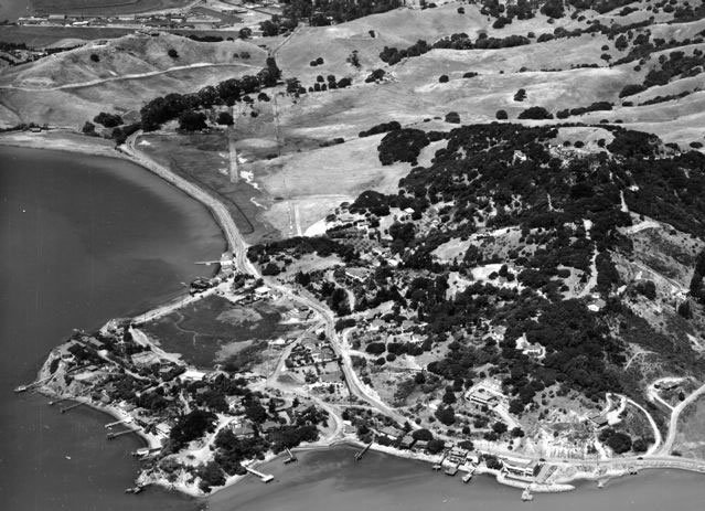 Aerial of Chicken Pt and Camile Mello Ranch between 1950 & 1954
