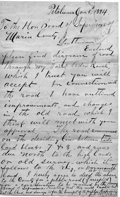 County Road Letter (January 6, 1894)