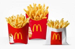 """Stvarno nemamo nikakvu ideju za sliku u tekstu, pa evo mala, srednja i velika porcija McDonaldsovog pomfija. Glasno uzdišete i mislite """"Ajme da mi je sad jedan ovaj"""". Znamo kako je."""