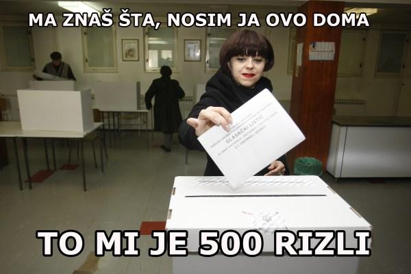 Zagreb, 08.11.2015 - Predsjednica ORaH-a Mirela Holy glasala je na birackom mjestu Mirogoj