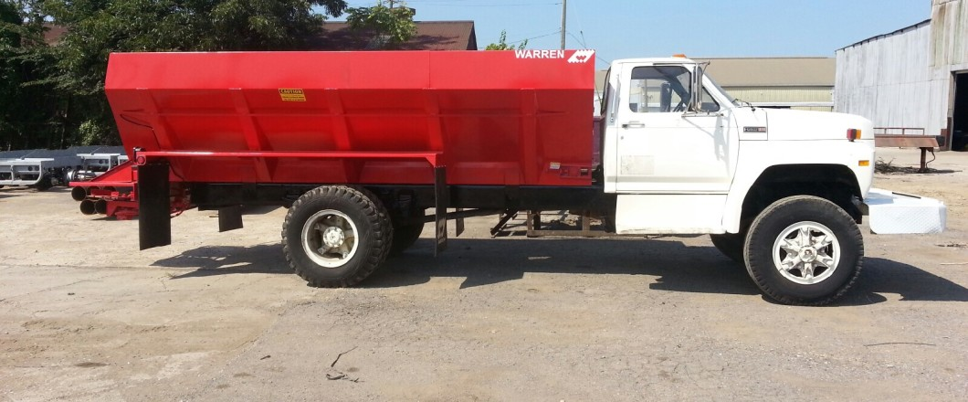Fertilizer Lime Truck Spreaders Mounted