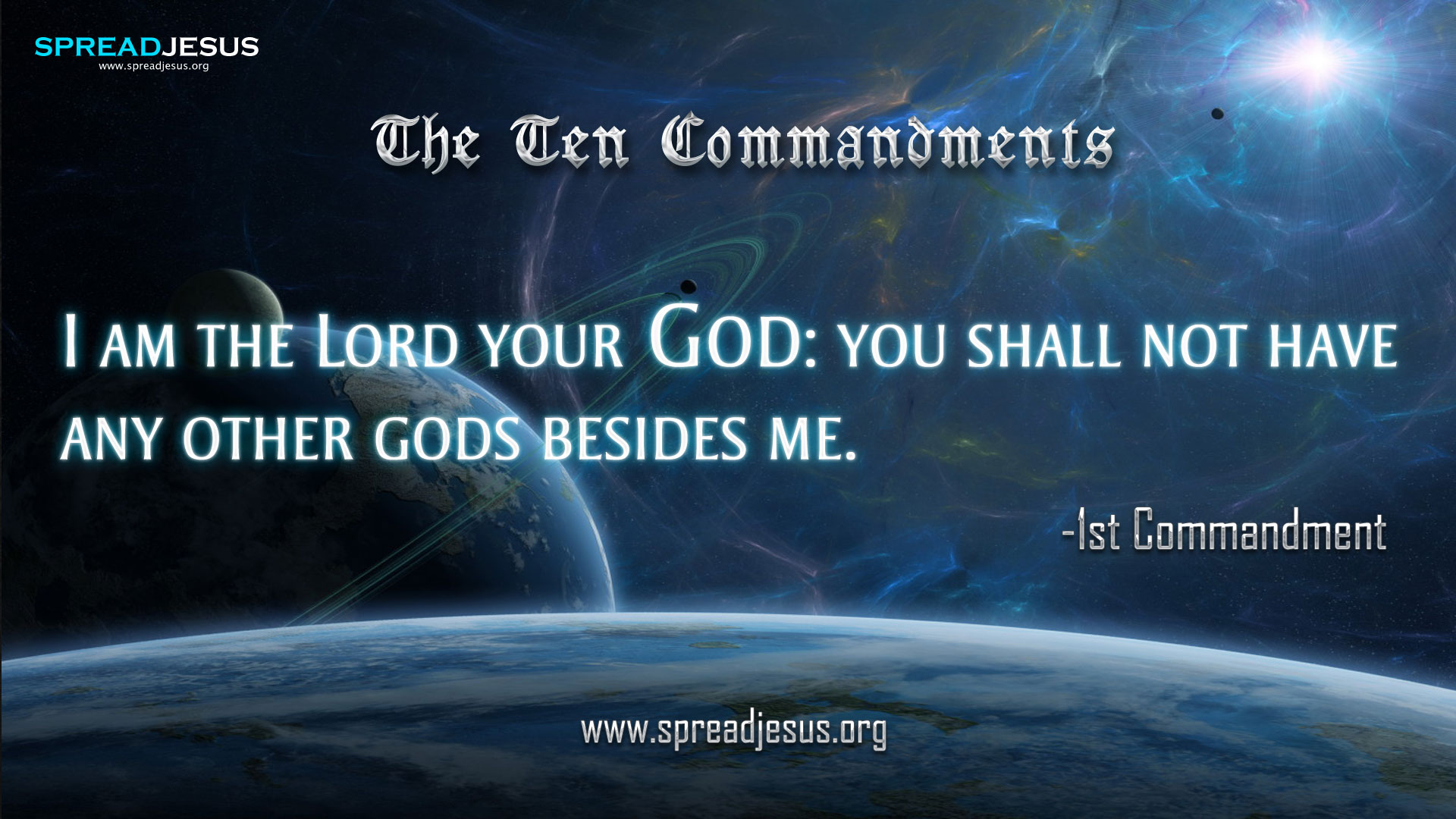 The Ten Commandments 1st Commandment In 10 Commandments