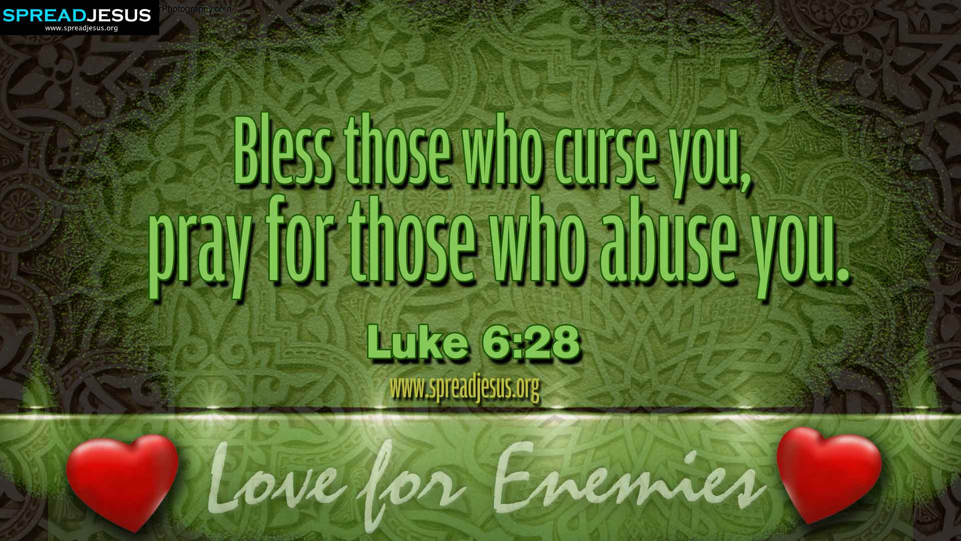 Wallpapers Of Christian Quotes Bible Quotes Luke 6 28 Hd Wallpapers Free Download