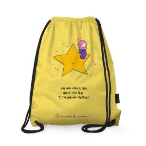 Why Wish upon a Star Drawstring Bag