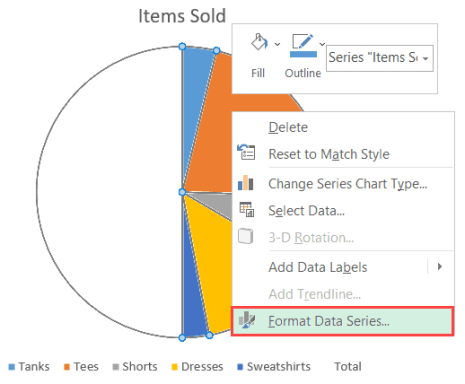 Format Data Series in Excel