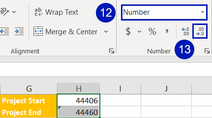 Convert the date values