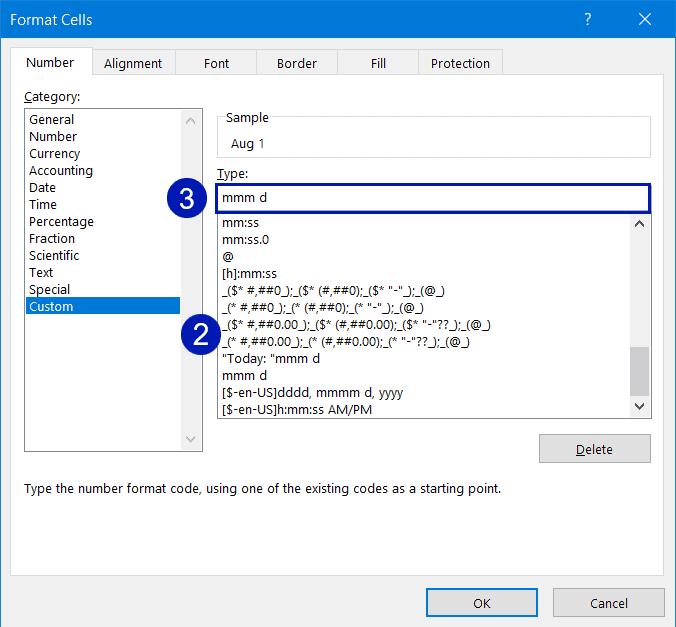 Create a custom date format