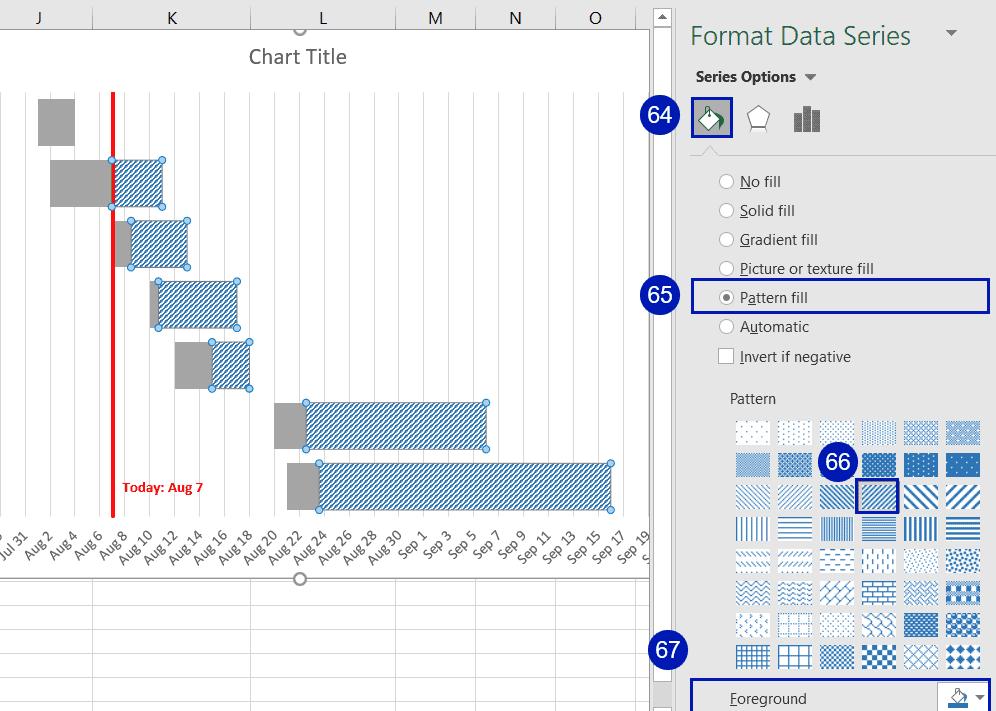 Select Pattern Fill