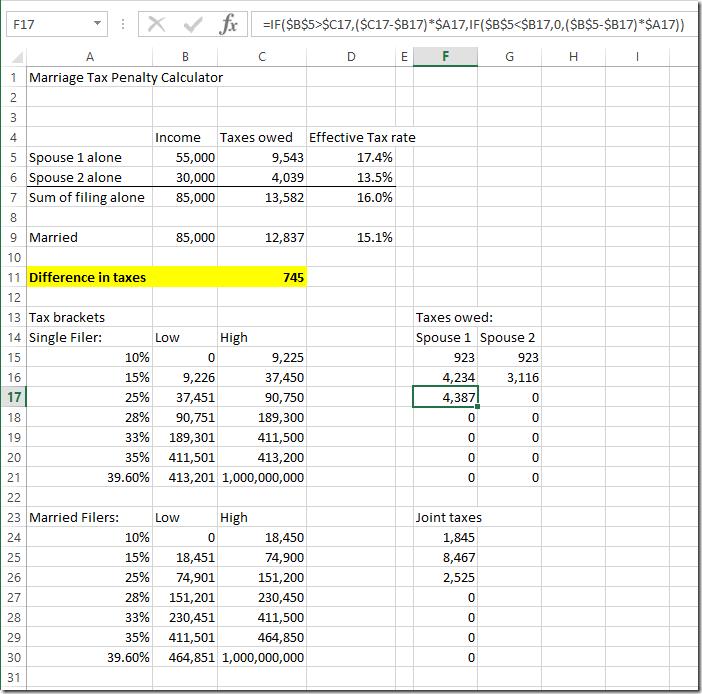 tax spreadsheet
