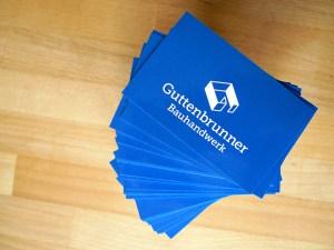 Visitenkarten für Guttenbrunner Bauhandwerk